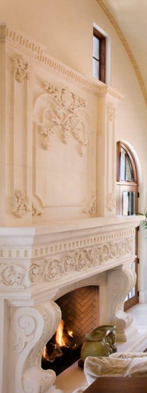 Old World, Mediterranean, Italian, Spanish & Tuscan Homes & Decor fireplace
