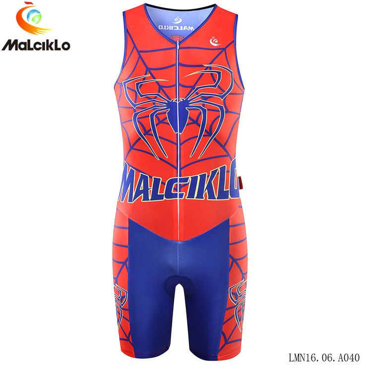Malciklo Men Triathlon Clothing Elastic Cycling Jersey Tight Suit Cycling Swimming Mens Triathlon suit Sleeveless Jersey #Affiliate