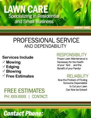 Lawn Care Flyer Google Search Lawn Care Business Lawn