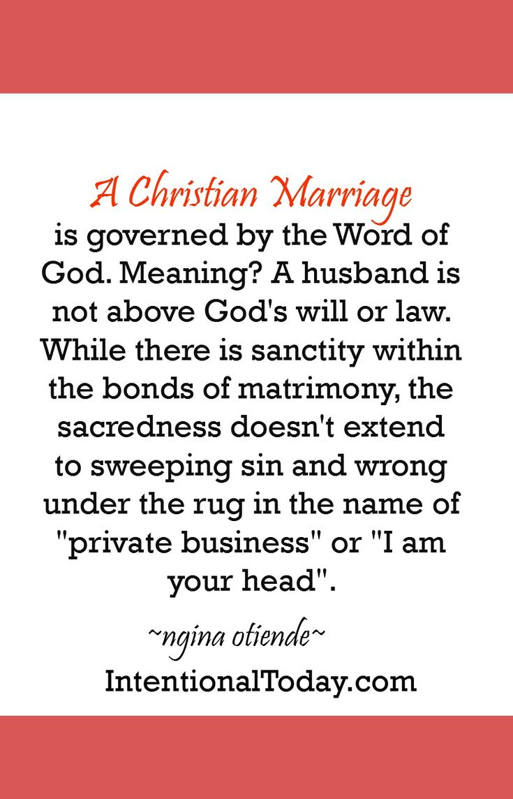 Divorce within christian marriage