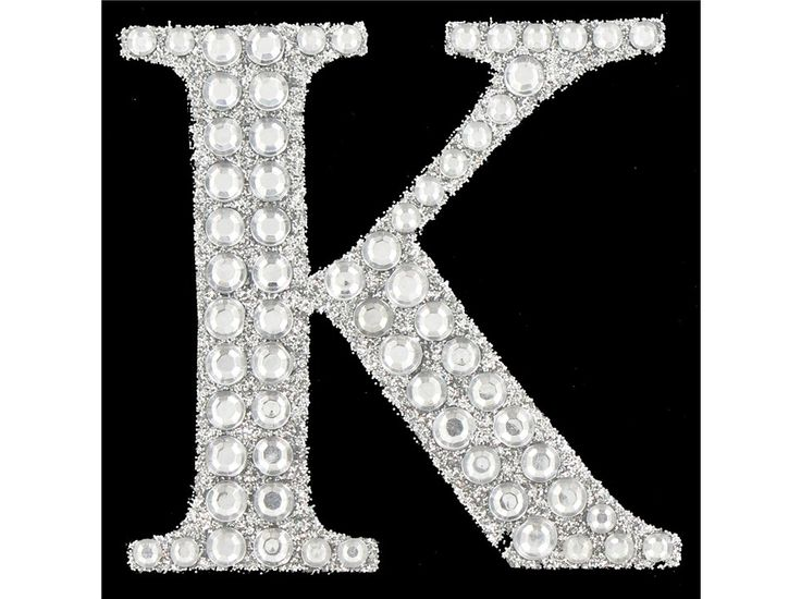 the Paper Studio Silver Glitter Gemstone Sticker Letter - K | Shop ...