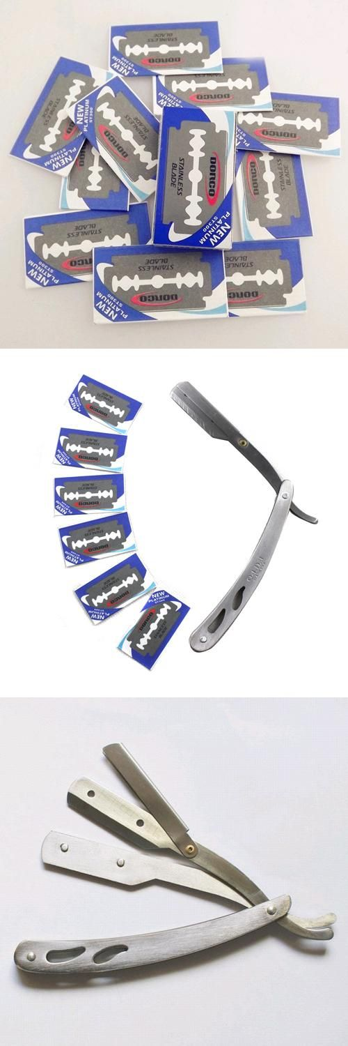 [Visit to Buy] 10pc Terrific Razor Hair Cutting Shaving Sharper Thinning Knife Double Edge Blade  Hot Sale #Advertisement