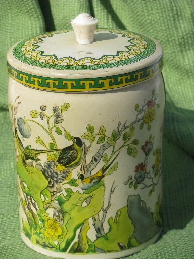 Old English biscuit tin