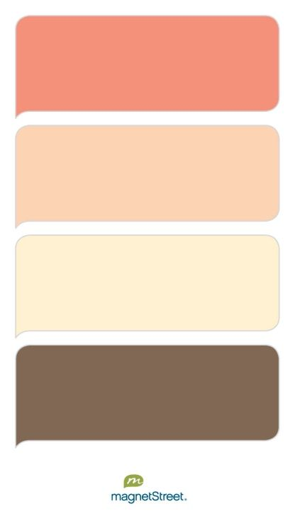 Coral, Peach, Pale Peach, and Latte Wedding Color Palette - custom color palette created at MagnetStreet.com