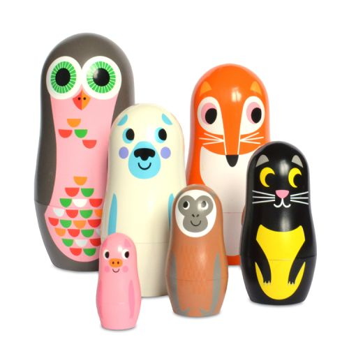 Studio Matryoshka Nesting Animals.  www.thelollipopshoppe.co.uk
