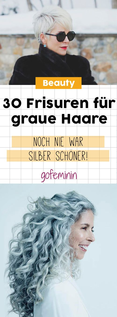 Grey is the new Black: 30 Frisuren für graue Haare
