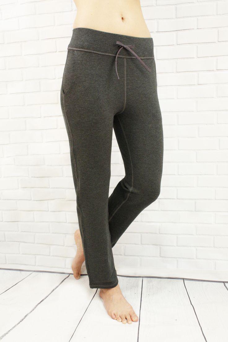 Cozy Pants in Heather Grey - cozy bamboo fleece