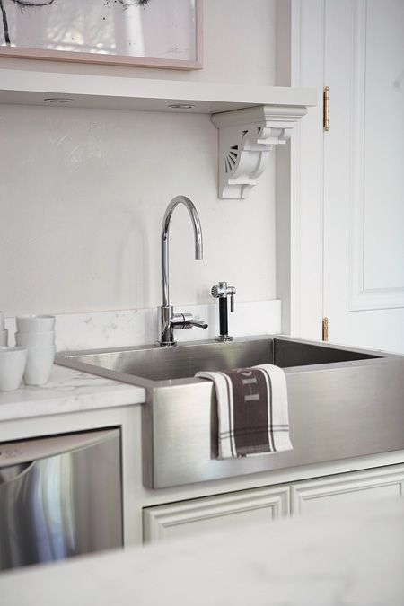 stainless steel farm sink - like the contrast
