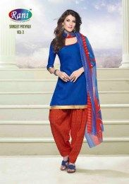 Blue Color Amazing All New Elegant Unstitched Patiala Suit With Gota Patti Work