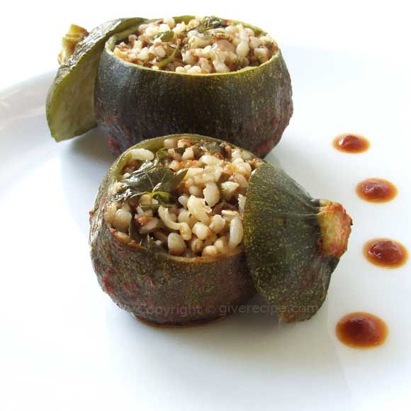 Turkey] Stuffed Eight Ball Zucchini | #zucchini #stuffed #bulgur ...