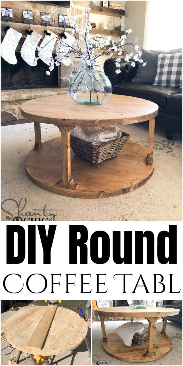Diy Round Coffee Table Plans 5