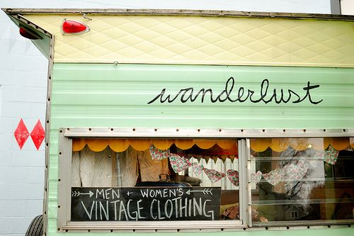 men and women's vintage clothing