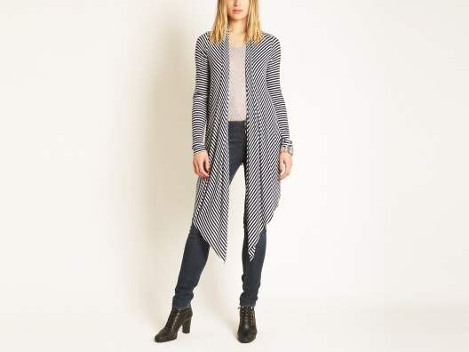 {extra long cardigan} stripey goodness! perfect for an evening of chic lounging