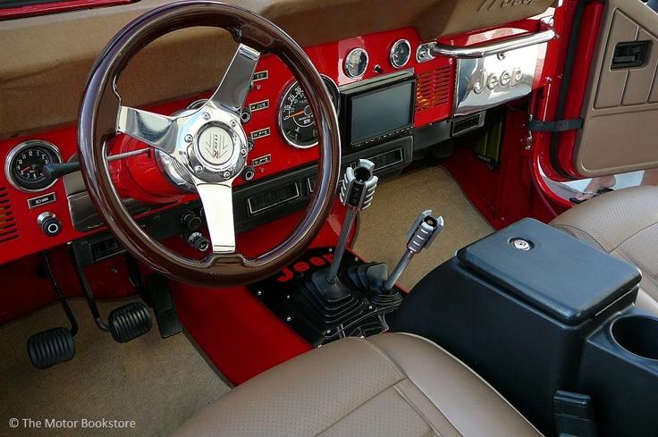 1984 Jeep CJ-7. Interior detail. Downtown Disney Car ...