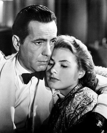 Casablanca. Humphrey Bogart and Ingrid Bergman.