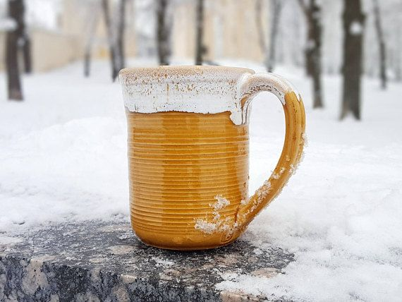 Big mug Ceramic mug Unique coffee mug Pottery mug Coffee gift Ceramic mug handmade Mugs pottery Large mug Tall coffee mugs Large pottery mug