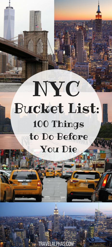 Looking for some New York City travel inspiration? Maybe some NYC travel tips? Then look no further! This New York City Bucket List includes 100 things to do in New York City before you die. From amazing restaurants and markets, to museums and art galleries, to places to enjoy recreational activities and insanely beautiful views, this article has it all. Forget anything you've ever read about New York City before, because this bucket list, written by a New Yorker, is the only...