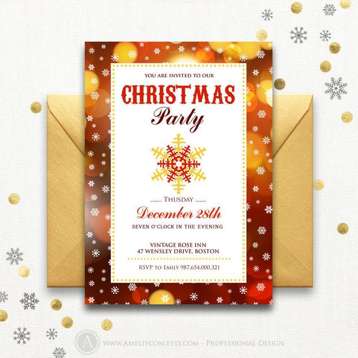 Ponad 25 najlepszych pomysłów na Pintereście na temat Holiday - company party invitation templates