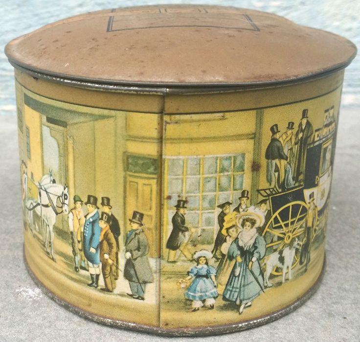 Dobbs Hat Box*Vintage Tin*Fifth Avenue Salesman Sample Hat Box*Small Tin Box by therepurposingtwin on Etsy
