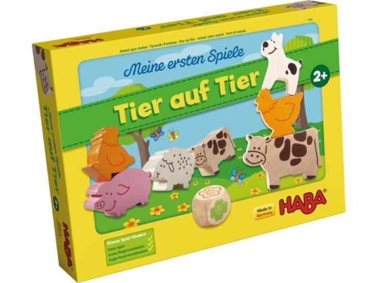 zzgl.Versand - weitere Artikel siehe www.grado-basteln-spielen.deHaba 4680 Meine ersten Spiele Tier auf Tier- Spielzeug und Regelspiel in einem- extra große Tiere für Kinderhände- erster Stapelspaß- für 1-4 Spieler ab 2 Jahre- fördert freies Spiel, erstes Regelverständnisund Auge-Hand-Koordination