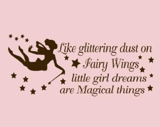 Like glittering dust on fairy wings little girl by HouseHoldWords, $25.00