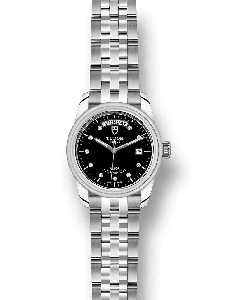 Entdecken Sie die Glamour Modellline von Tudor, klassische Armbanduhren für Damen und Herren in einer breiten Auswahl von Größen, Zifferblättern und Armbändern auf der offiziellen Webseite von Tudor.