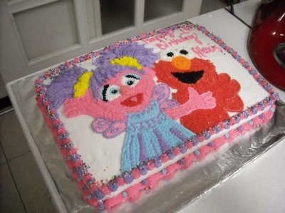Best ElmoAbby Party Ideas Images On Pinterest Birthday Party - Elmo and abby birthday cake