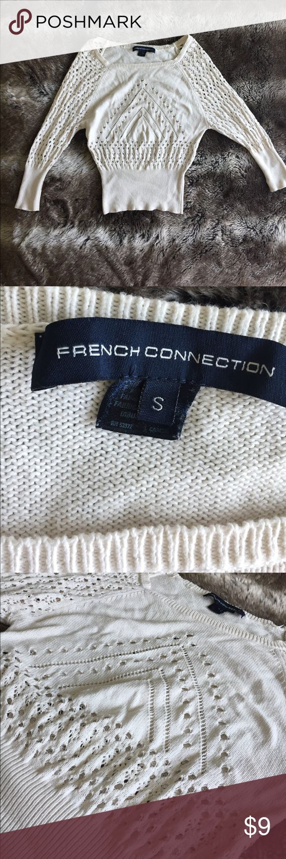 French Connection sweater size S French Connection Sweater. Stretchy and boho chic. Pair with jean short shorts for a easy summer look. Throw on strappy sandals and you'd be on trend. French Connection Sweaters