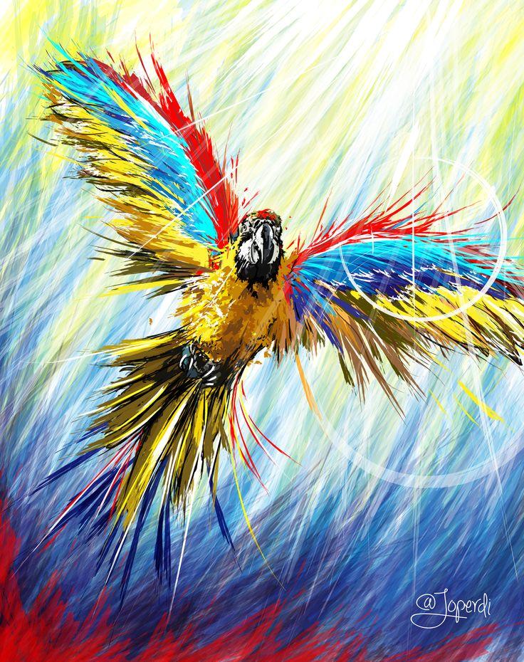 VENEZUELA LIBRE! Imagen protegida bajo derechos de Autor.  #guacamaya #venezuela #vzla #tricolor #folklore #ilustracion #illustrator #color #psicodelic #animal #design #diseño #draw #doodle #ipad #graphicdesig #caracas #resistencia #libertad #350 #sosvenezuela #sosvzla