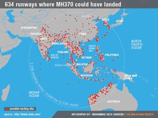 MH370 flew as low as 1,500m to avoid detection, says paper - The ...
