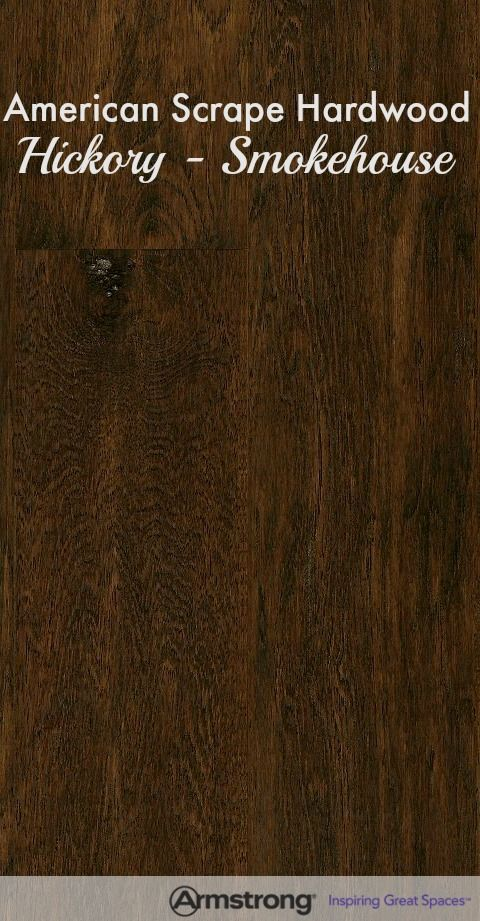This gorgeous hand-scraped, made in the USA hardwood flooring is shown here in Hickory - Smokehouse.  This was used in the Toll Brothers design showroom.