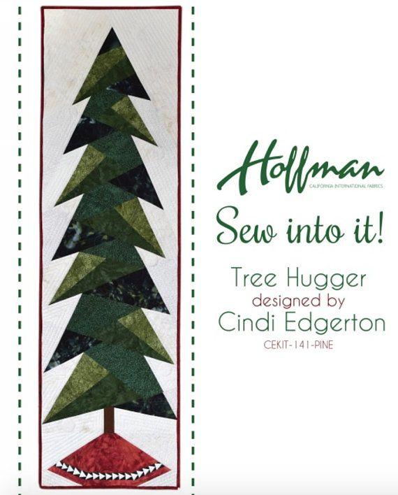 Hoffman Fabrics Tree Hugger Quilt Kit By Cindi Edgerton Fabric Tree Tree Quilt Block Hoffman Fabrics