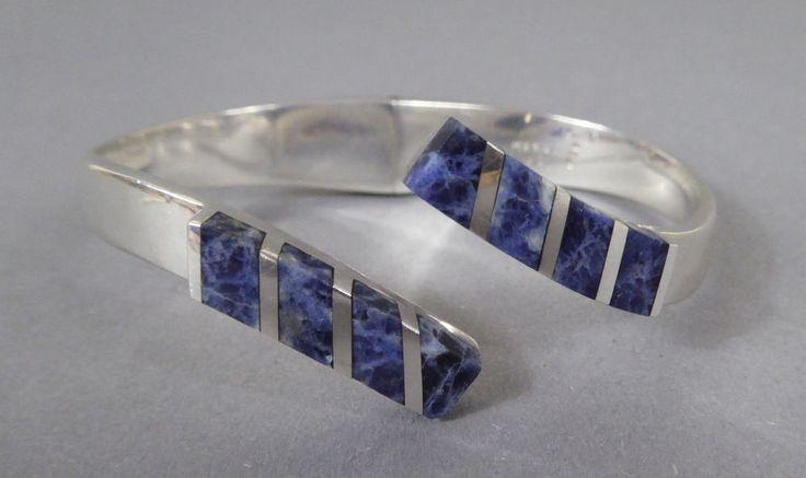 Armreif Silber Sodalith Mexiko Bangle Bracelet Sterling Sodalite Sig. Mexico TB