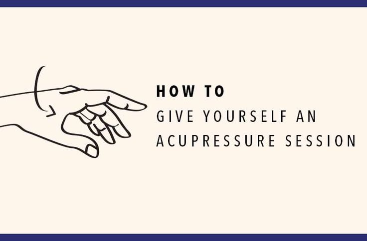 How to Give Yourself An Acupressure Session / All illustrations by Julia Wu for Well+Good