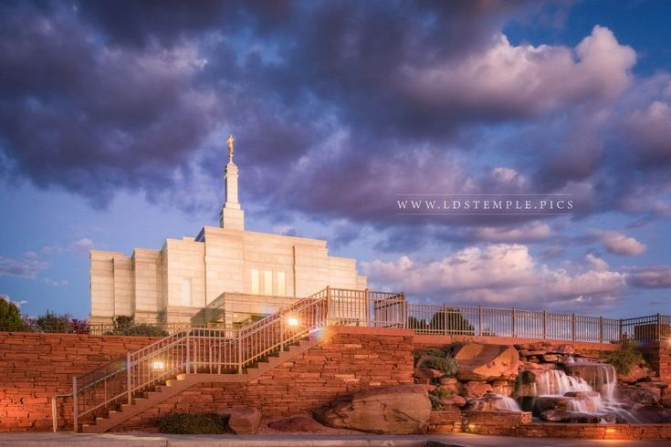 Snowflake Temple Stairway To Heaven. A peaceful evening at the Snowflake Arizona Temple. From LDS Temple Art