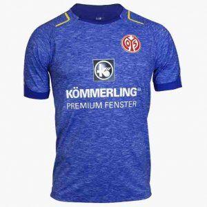 FSV Mainz 05 2017-18 Season Away Blue Shirt Jersey [K657]