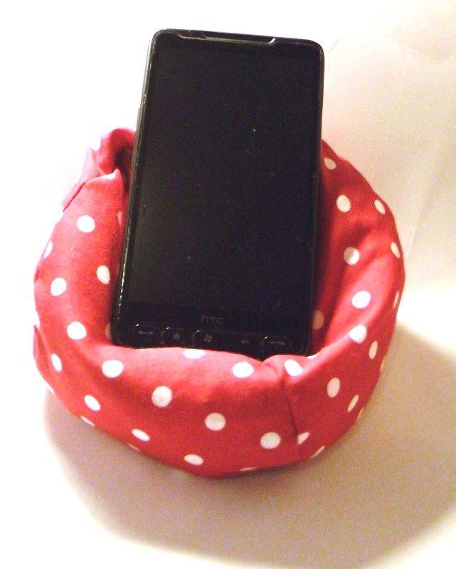 mini bean bag cell phone holder