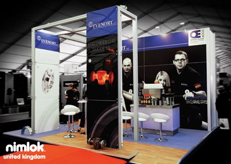 Nimlok designs portable trade show exhibits and displays. For EveNort, we built a custom modular 10' x 20' booth solution that would showcase their products and brand.