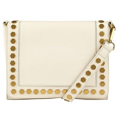 Buy AND/OR Clea Leather Across Body Bag, Cream Online at johnlewis.com