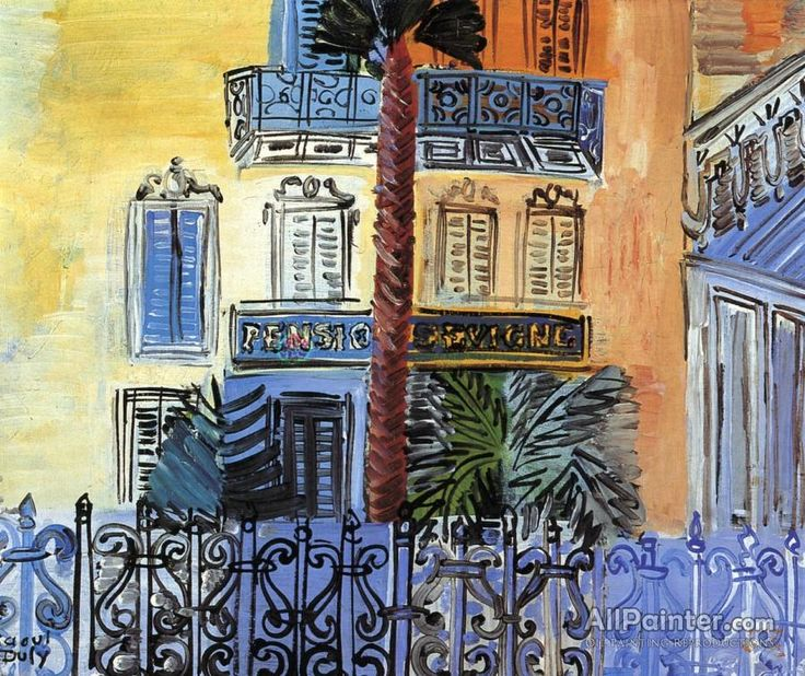 Raoul Dufy,Palm Tree, Pensione Sevigne oil painting reproductions for sale