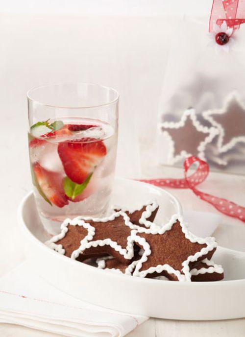 Estrellas de chocolate con glacé real
