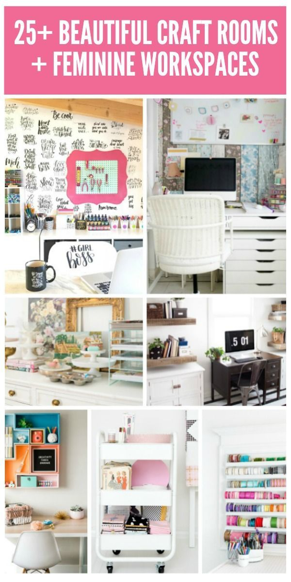 Great  Beautiful Craft Rooms Workspaces