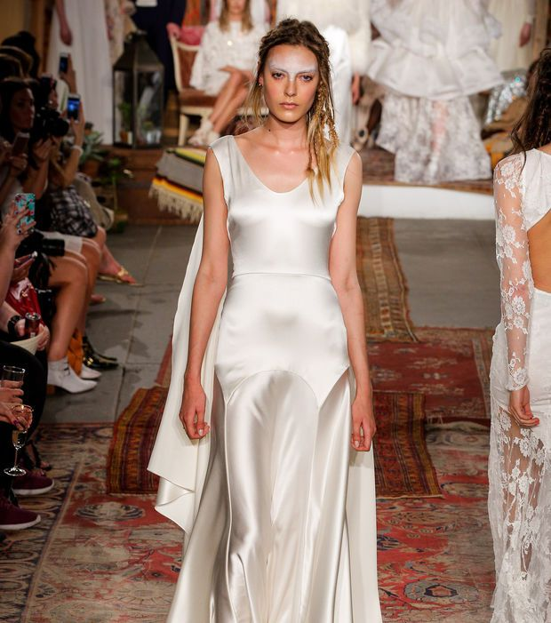 Robe de mariée en satin de soie - Houghton