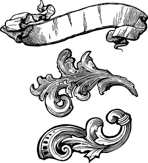 beautiful scroll for tattoos