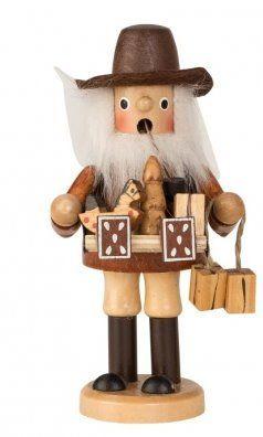 Erzgebirgische Weihnachtsdeko.Räuchermannfigur Mit Bauchladen Holzkunst Aus Dem Erzgebirge