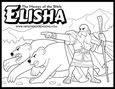 The Heroes of the Bible Coloring Pages: Elisha (II Kings 2