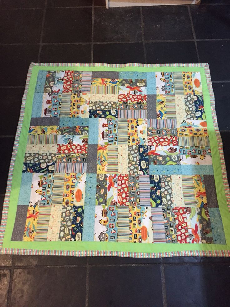 1st baby quilt - little flyers May 2016