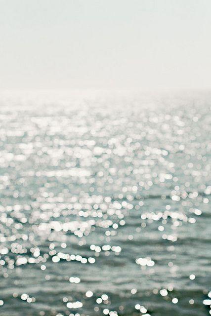 glittery ocean makes me happy