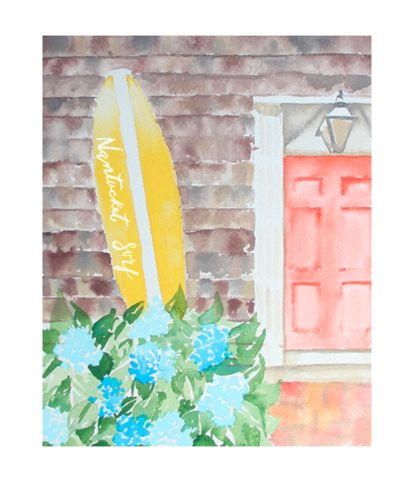 Artwork for a beach home or someone who loves Nantucket!