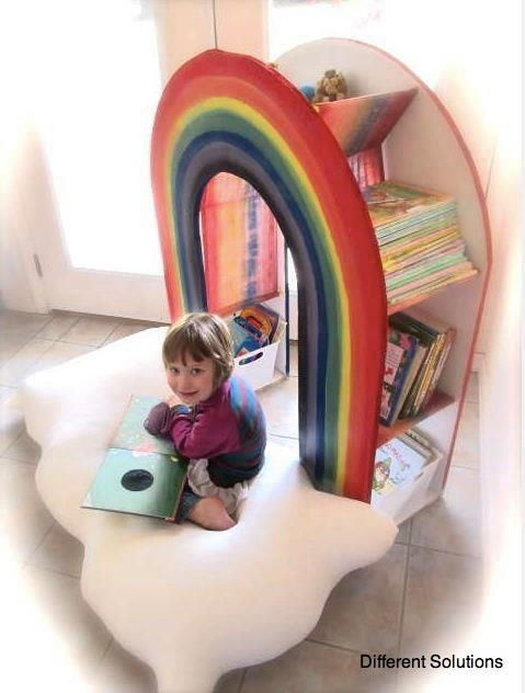 reading corner for kids! i wish i could of had this as a child! omg i would of been in there all day <3